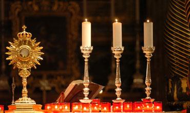 Candles on an altar