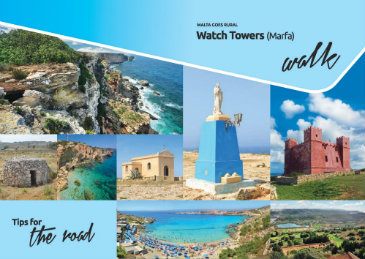 This Brochure details a walk in the outskirts of Mellieha pointing out a number of Fortress that used to protect the Maltese islands from Pirates