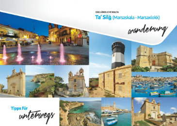 This Brochure details a walk in the outskirts of Marsaxlokk and Zejtun pointing out important different fortifications and religious buildings.
